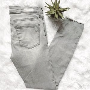ARTICLES OF SOCIETY Gray Raw Hem Skinny Jeans 28